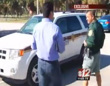 "The government official said he was just ""following orders"" when interviewed. Via CBS 12."