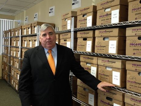 Norfolk County District Attorney Michael Morrissey is reviewing thousands of files to determine which cases must be thrown out or retried because of potentially tainted evidence. | Source: Tovia Smith/NPR