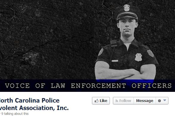 "The Facebook page of the ""North Carolina Police Benevolent Association."""
