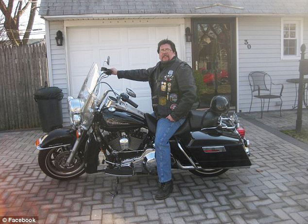 "The officer is grinning with an expensive motorcycle, which his  reported ""disabilities"" wouldn't have allowed him to ride."