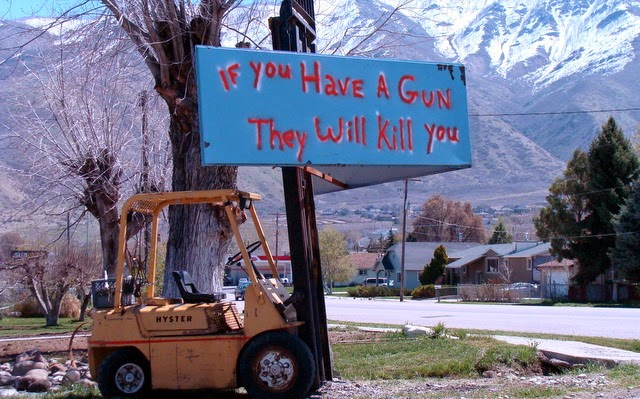 A resident of Santaquin, Utah, issues a warning about the local police.