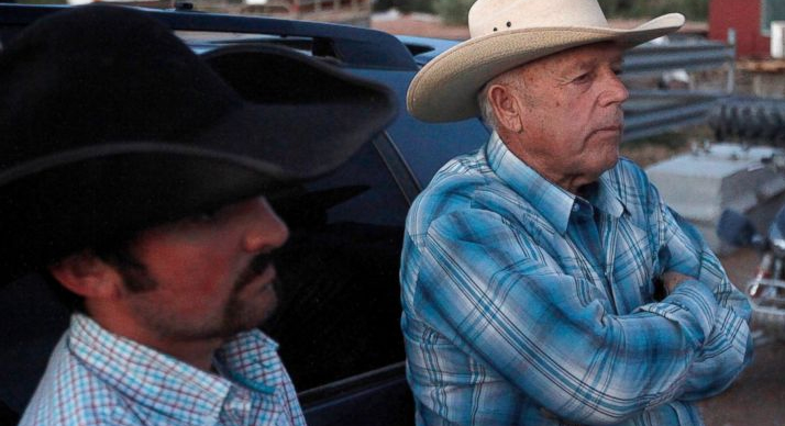 """As far as I'm concerned, the government doesn't exist,"" said Cliven Bundy, when asked why he refused to pay fees to use his own land."