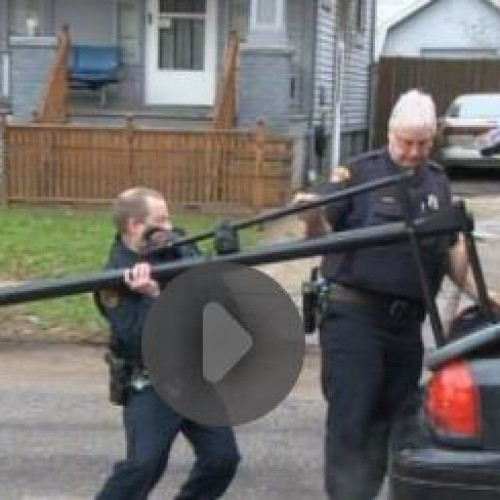 Cleveland Police Confiscate Children's Basketball Hoop