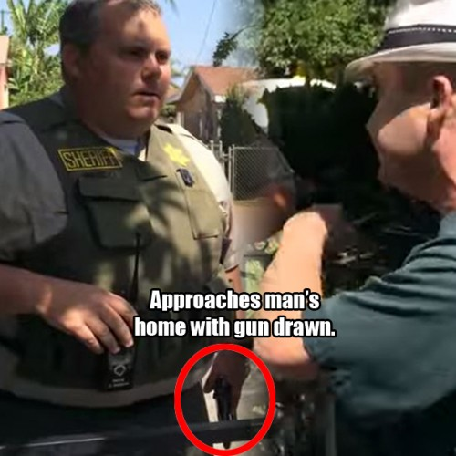 Cop Draws Gun and Tries to Enter Private Home — This Brave Man Kicks Him Out