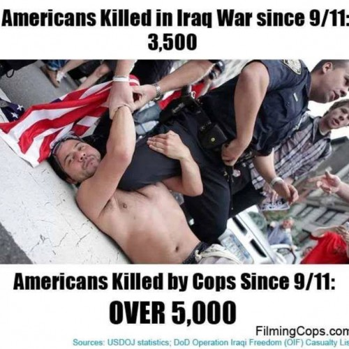 US Cops Kill at 100 Times the Rate of Other Developed Capitalist Countries