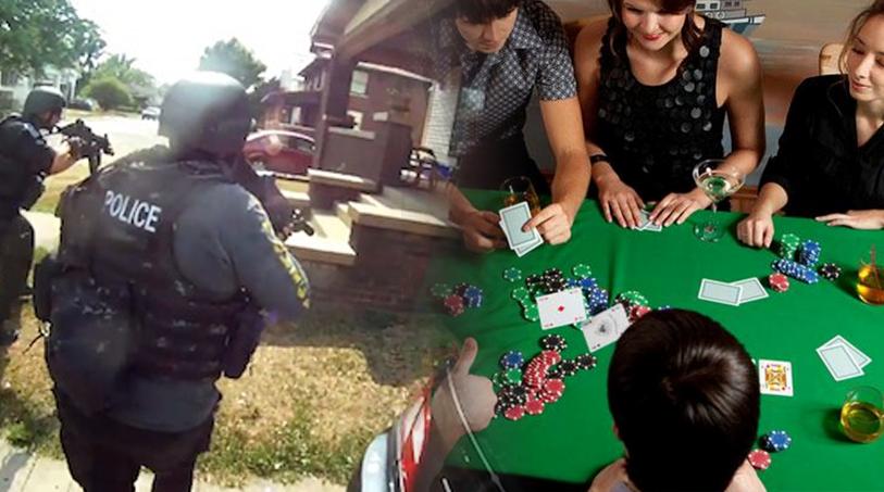 Swat team raids poker game
