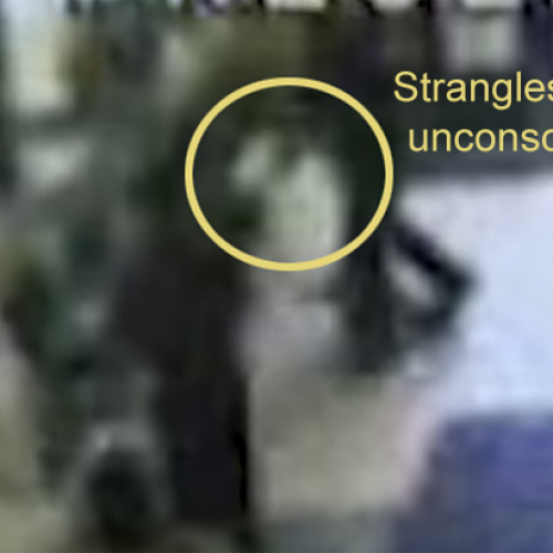Raw Video Shows Cop Choking Child Continuously Until Child Goes Limp, Collapses and Gets Brain Damage