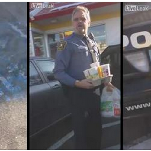 Viral Video: Cop Flips Out for Being Filmed as He Breaks the Law, Parks in Handicap Spot to Get McDonalds