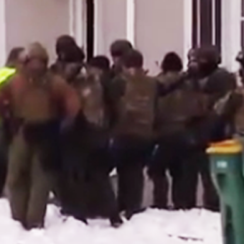 Raw Footage Shows Heavily Militarized Police Training to Invade Homes on American Soil
