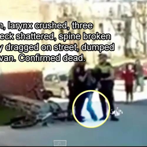 RAW VIDEO: Cops Mutilate Man's Body and Dump Him in Van — He is Now Dead