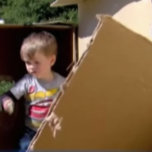 Government Demands Father Demolish Cardboard Fort He Built for His Children