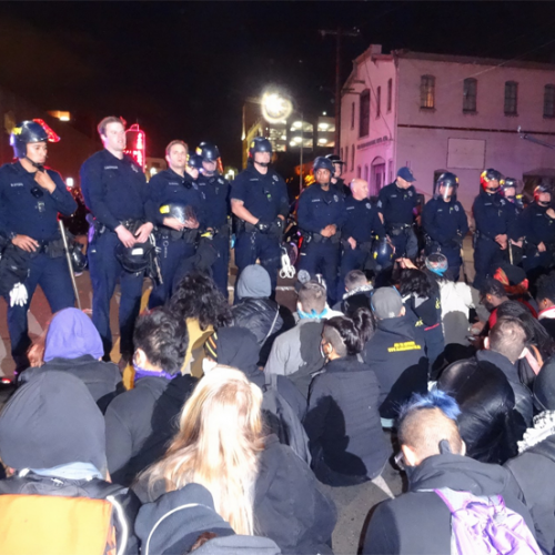 Oakland Police Arrest 52 Peaceful Protesters, Threatens Them With Weapons