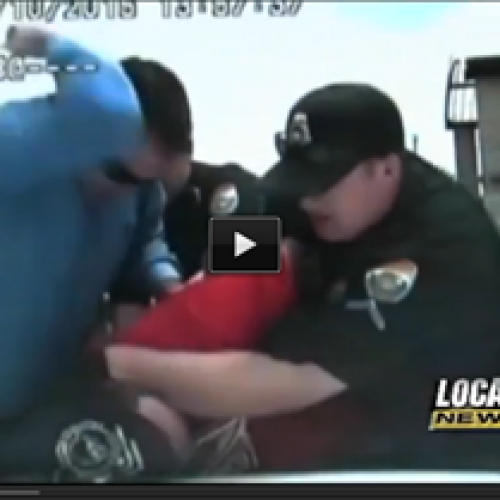 Video: Cop Charged With Assault After Smashing Handcuffed Man With His Elbow.