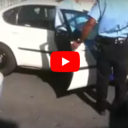 Cop Calls Handcuffed Man A Pussy As He Punches Him in The Face