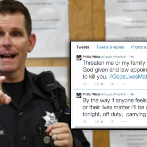 "Crazy Cop Threatens to Shoot Americans at Movie Theaters if They Feel ""Their Lives Matter"""