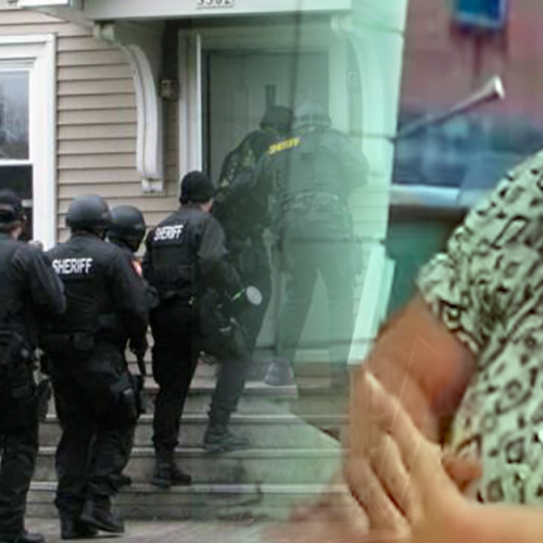 This Elderly Woman Flipped Off a Politician, So Cops Raided Her House in Retaliation