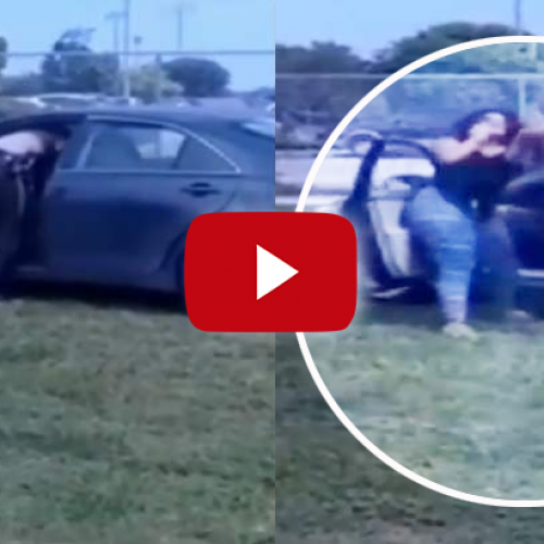Mom Violently Attacked by a Cop while Picking Daughter Up from School, for Parking on the Grass