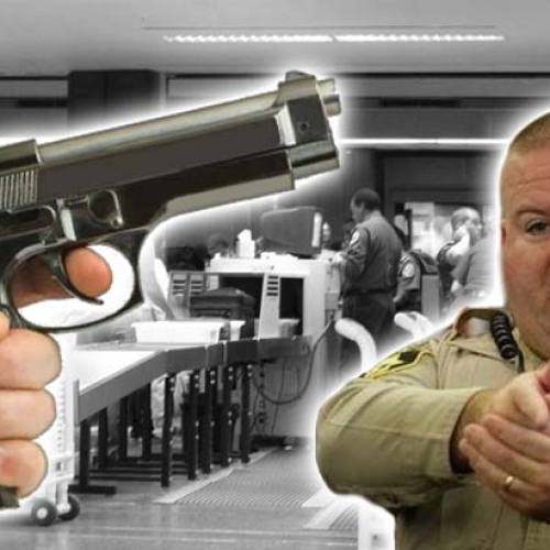 "Cop Opens Fire in Airport, Says He Was ""Just Practicing Quick Draw Skills"""