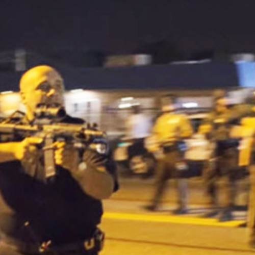 """Get Back or I'll F-ing Kill You!"" – Cop Threatens Unarmed Protesters"