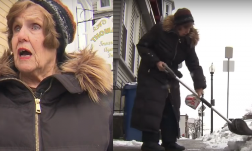 "76-Yr-Old Woman Fined for ""Not Shoveling Snow Fast Enough"""