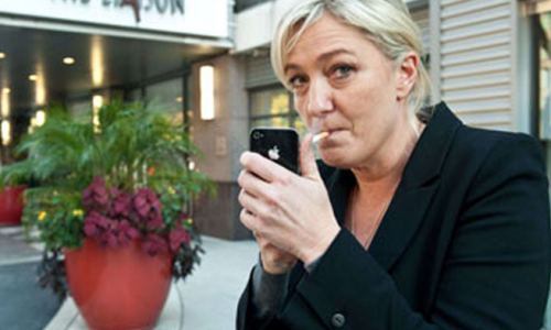 French Presidential Candidate Marine Le Pen Under Fire for Filming Cops