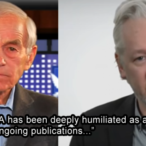 "CIA ""Deeply Humiliated"": Ron Paul and Julian Assange in New Interview"