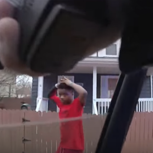 Video Shows Police Holding Children at Gunpoint