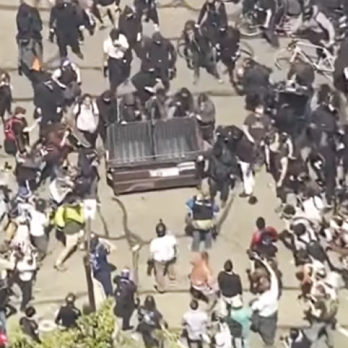 Violent Fights Take Place Between Trump Supporters and AntiFa Rioters