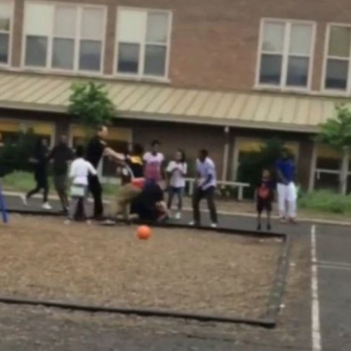 Video: Springfield Police Fight Group of Children in School Playground