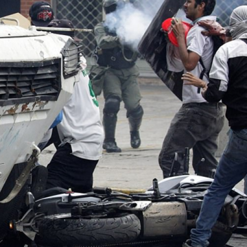 Graphic Video: Armored Vehicle Runs Over Protesters in Venezuela