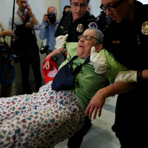 Capitol Police Drag Disabled Protesters Out Of Wheelchairs During Trumpcare Protests