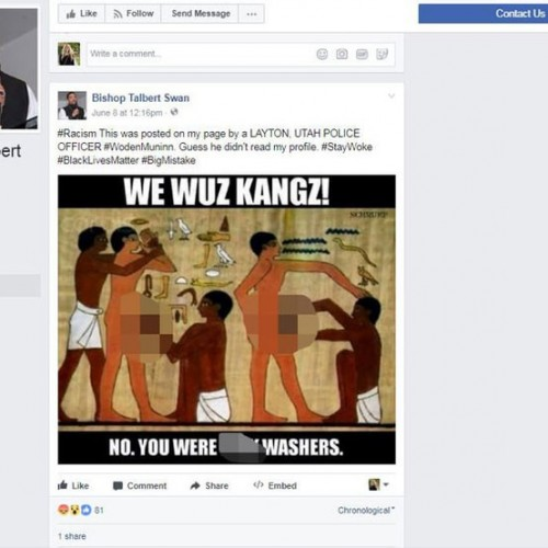 Police Officer Resigns After Posting Racist Meme On Facebook