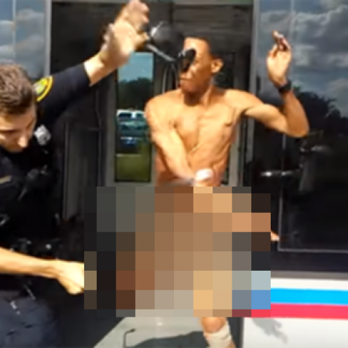 [WATCH] Naked Man Armed With Bug Spray Slaps Houston Officer