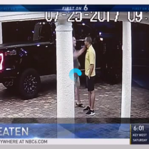 News Video: Former Cop Punches and Knocks Outs Valet Outside Florida Hotel