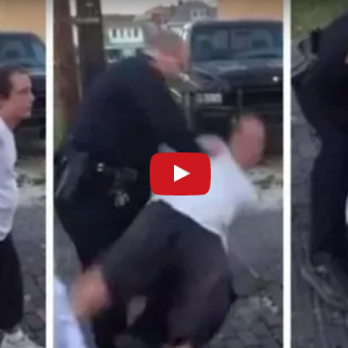 Cop Smashes Drunk Man's Head into the Ground for No Reason, Knocking Him Out