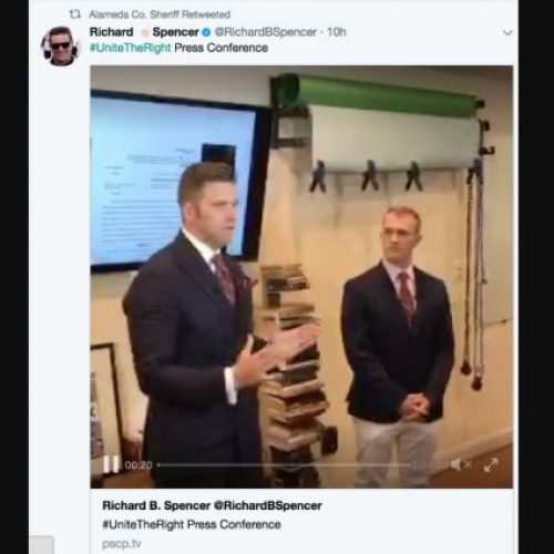 Sheriff's Office Draws Outrage After Retweeting White Nationalist Press Conference