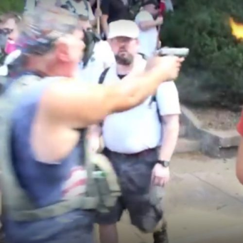 [WATCH] New Video Just Surfaced Of Police Standing By While Neo-Nazi Shoots At Charlottesville Protesters