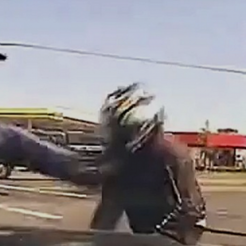 [WATCH] Federal Jury Awards $180,000 to Motorcyclist Kicked by Cop at Gunpoint