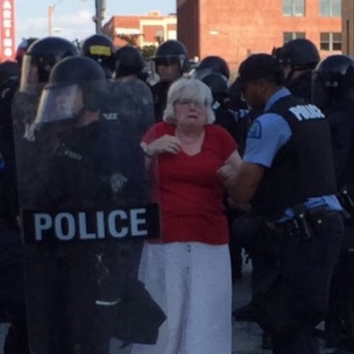 St. Louis Cops Knocked Over, Stepped On and Arrested An Elderly Woman For Protesting Stockley Ruling