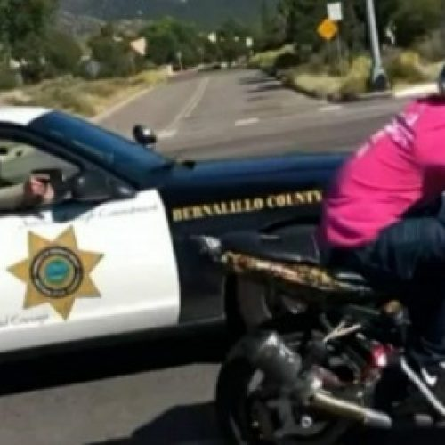[WATCH] Bernalillo County Sheriff's Deputy Pulls Gun on Motorcyclist While Driving Because He Was in Fear