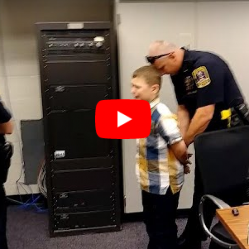 [WATCH] 9-Year-Old Boy With Autism Sobs as He's Arrested for Fighting With Another Student