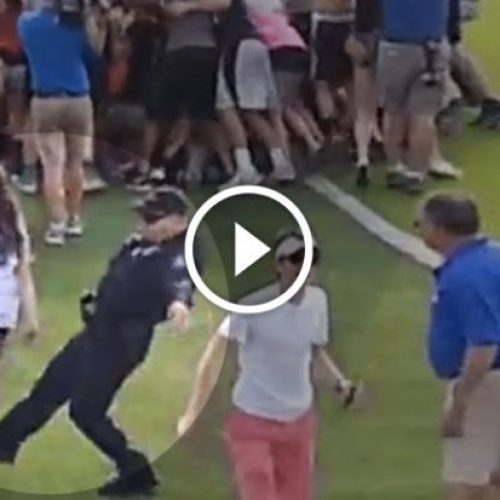 [WATCH] Bully Cop Trips and Shoves High School Girls After Soccer Game