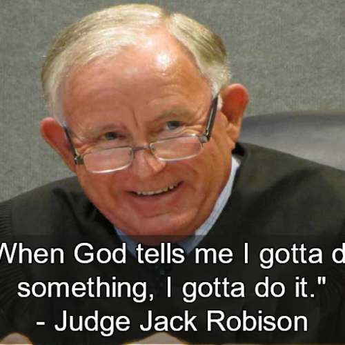 Texas Judge Interrupts Jury Says God Told Him Defendant is Not Guilty
