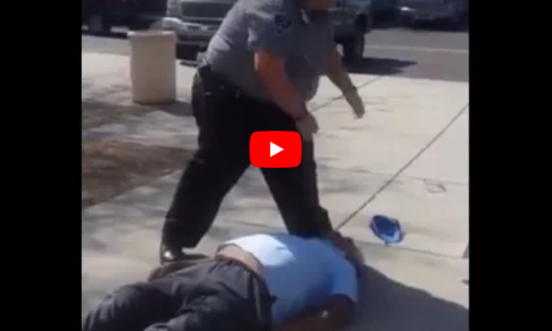 WATCH: Security Guard Forcibly Removes Disabled Elderly Man From Building, Pushes Him To The Concrete