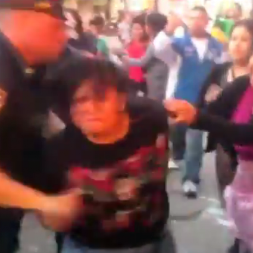 WATCH: NYPD Officer Suspended after Body-Slamming & Kicking Latino Street Vendors in Brooklyn