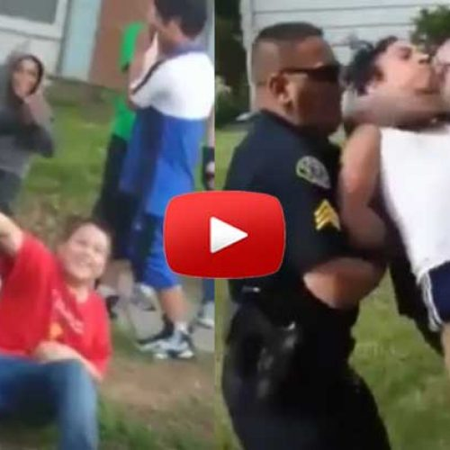 WATCH: Child Body Slammed, Choked by Cop After Voicing Concern Over Another Child's Violent Arrest