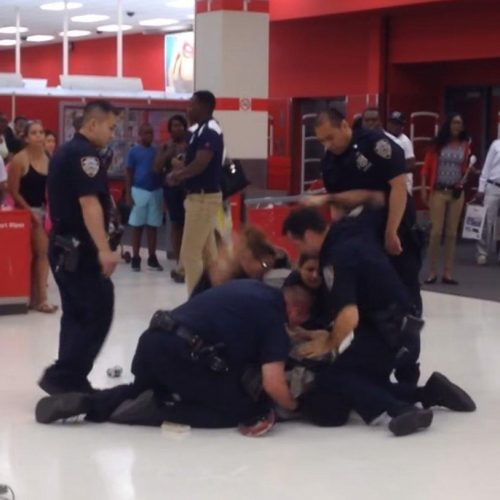 WATCH: NYPD Cops Take Down & Beat Man, Then Intimidate Target Shoppers Scolding Them