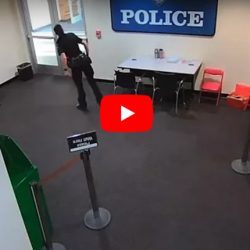 WATCH: Washington Police Officer Caught Stealing Drugs From Police Station