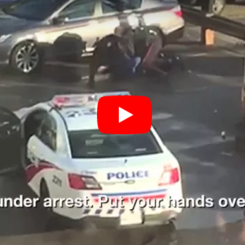 WATCH: Raw Bystander Video Shows Toronto Police Beating Man in Mistaken Arrest