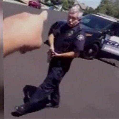 WATCH: California Cop Draws His Gun After Resident Films Him From His Own Driveway